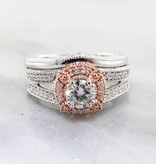 Trending Bridal Two-Tone White Rose Gold Diamond Wedding Ring Set
