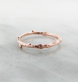 Rustic Rose Gold Ring, Twig Band