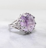Vintage Amethyst Silver Ring, Duchess Lost Relic