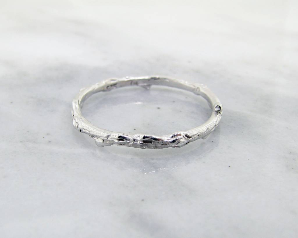 silver straight hammered finish silverly thin ring womens rings simple sterling engagement polished band products