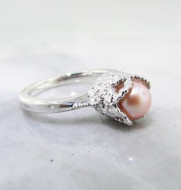 Vintage Pearl Silver Lace Ring