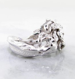 Undersea Silver Mermaid Ring, Waves