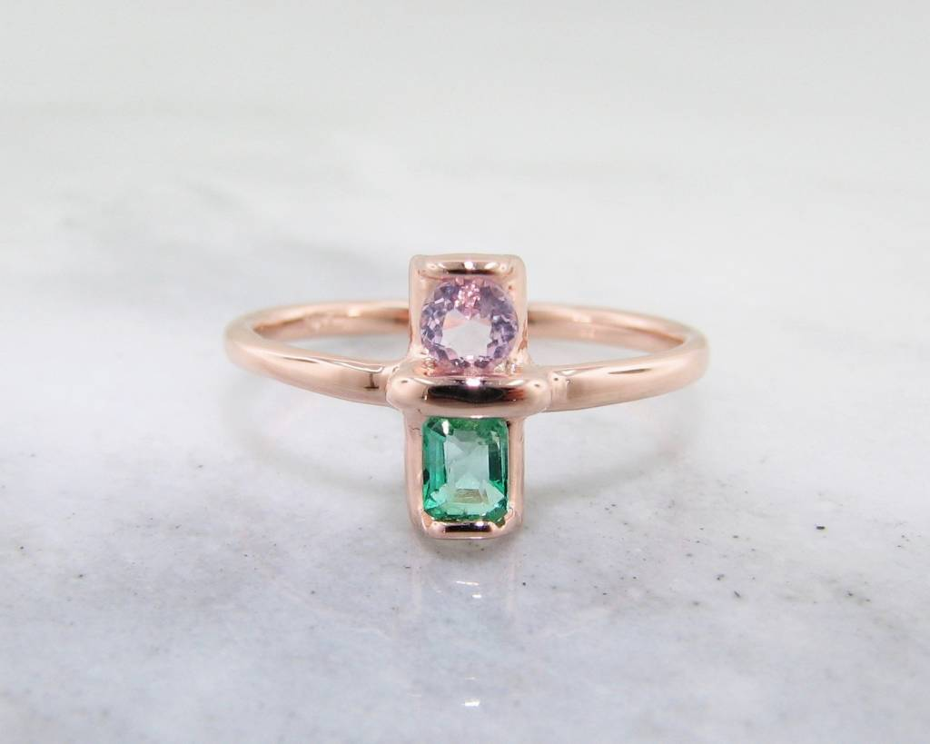 stone birth ring emerald gold jewellery white product tala diamond