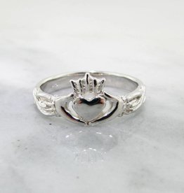 Vintage Silver Ring, Claddagh