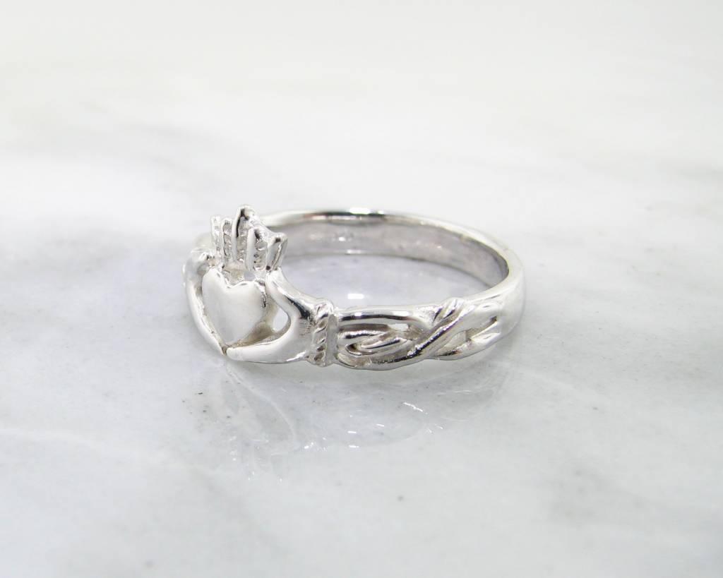 Vintage Silver Ring, Claddagh