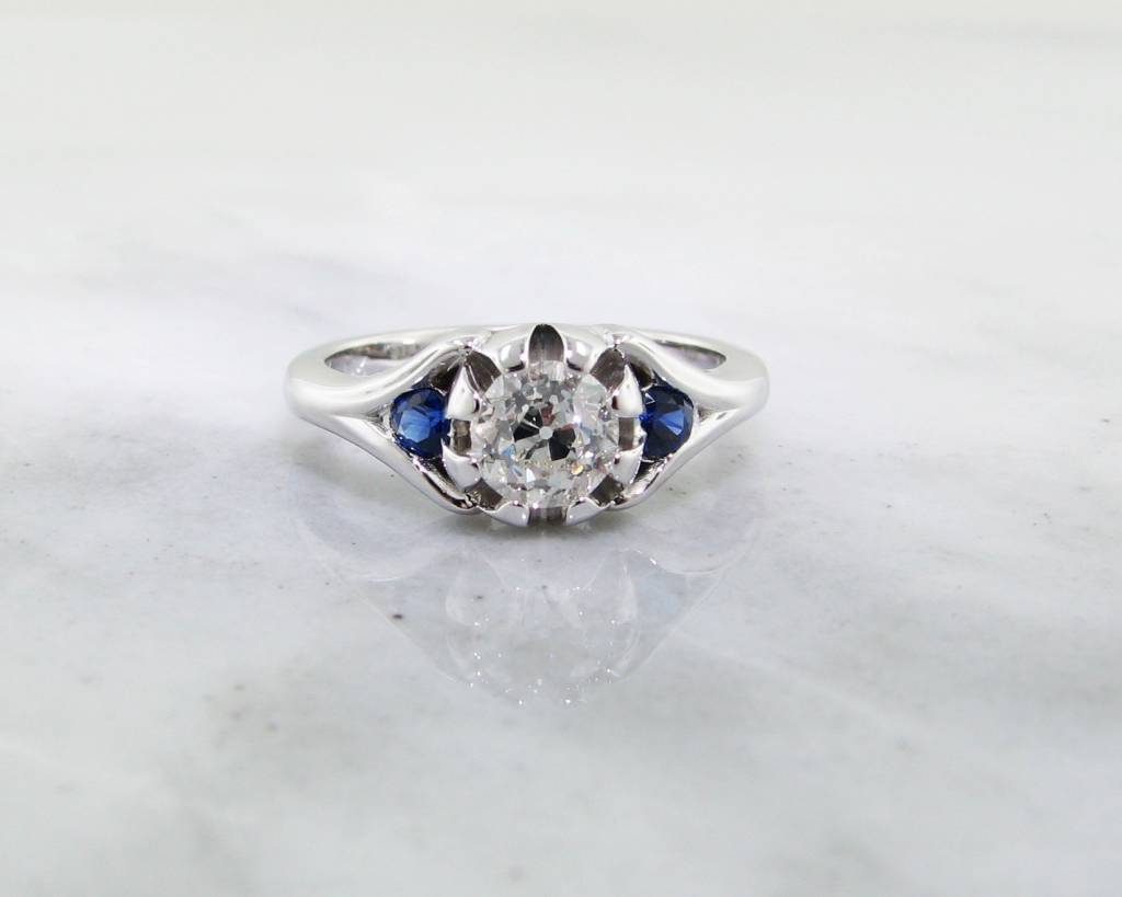 ring solitaire dome rings repurposed band pin tapered trillion diamond engagement classic