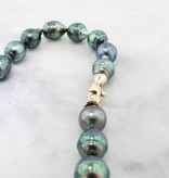 Yellow Gold, Tahitian Pearl Necklace