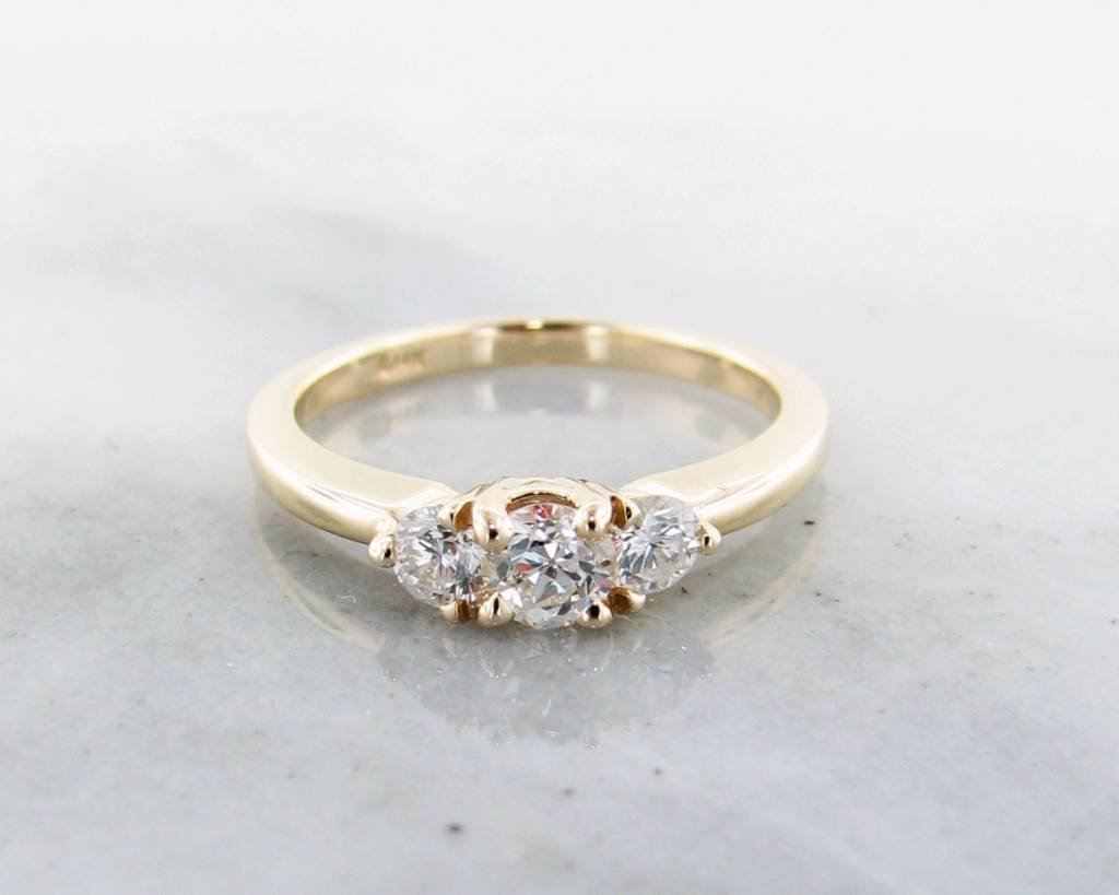 three diamond esqueleto ring shop engagement rings