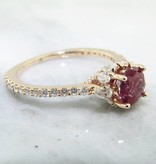 Trending Bridal Diamond Alexandrite Rose Gold Engagement Ring