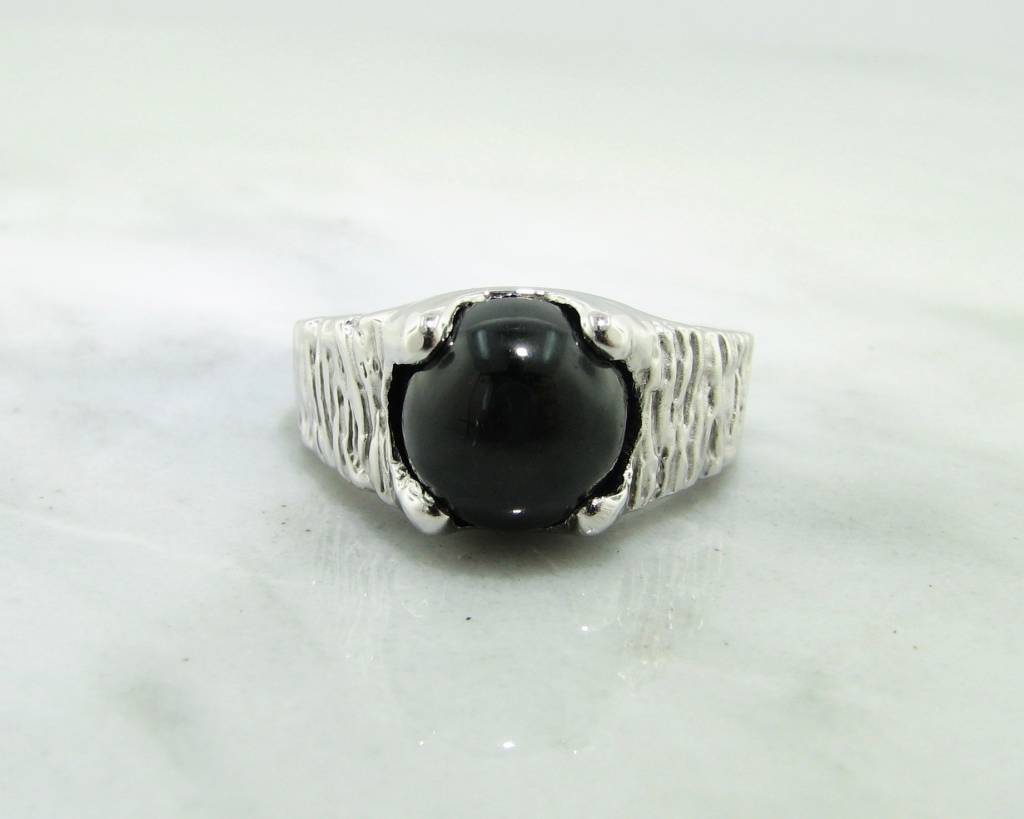 s ring silver boutique matte mens ottoman square jewellery jewelry black product onyx men