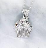 Sleek Multi Gem Silver Necklace, Sprinkles Cupcake