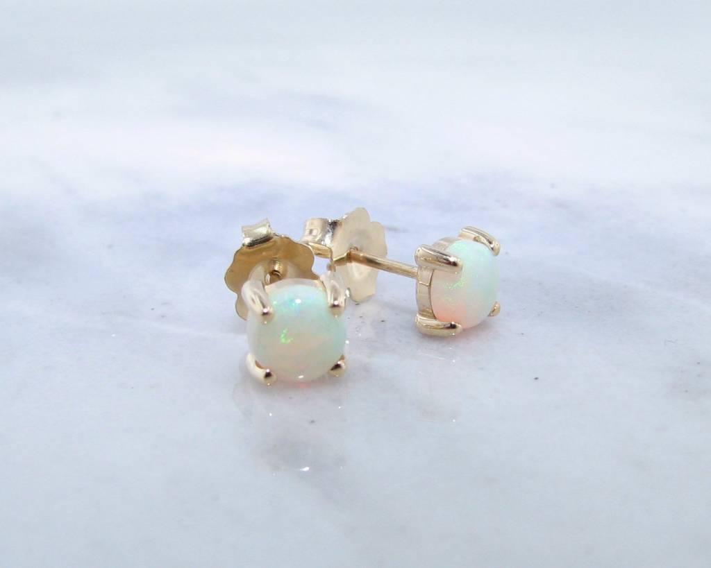 diamond gold d ethiopian opal and stud earrings edge products scalloped yellow