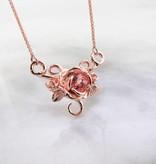 Signature Rose Rose Gold Champagne Sapphire Split Chain Pendant, Madeline