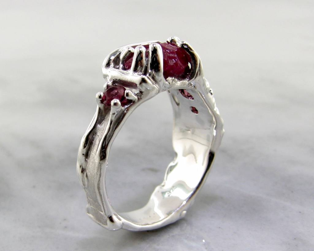 root ruby garnet wexford jewelers rings rou wedding organic ring rough silver raw tourmaline