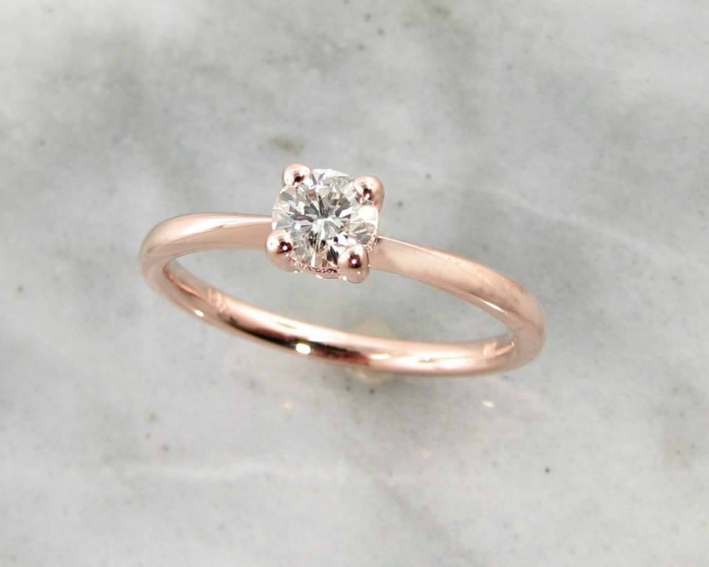 artemer diamond rose in gold ring products engagement grey rings