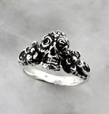 Organic Calavera Sugar Skull Daisy Silver Ring