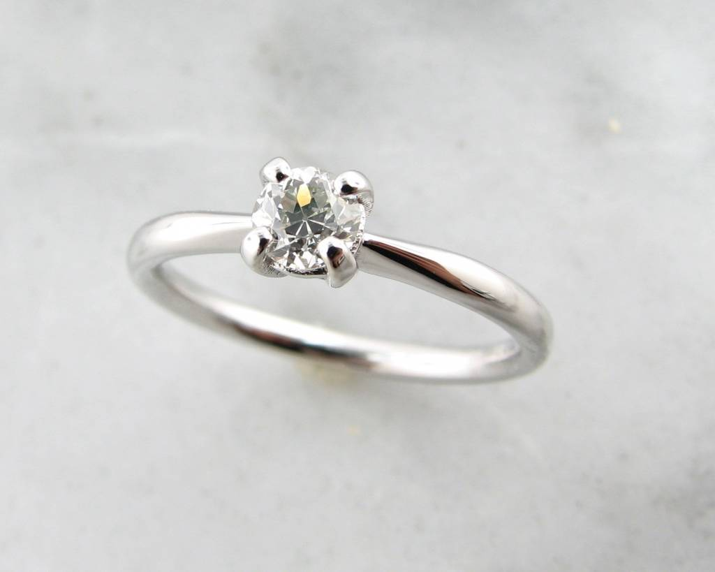 rings prong wedding six diamond man made solitaire white product gold puregemsjewels ring engagement