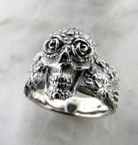 Organic Large Sugar Skull Calavera Silver Ring