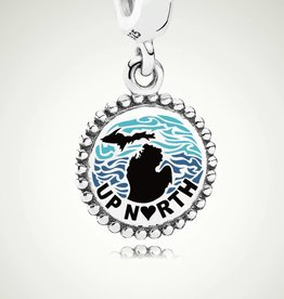 Pandora Pandora Jewelry Silver Michigan Charm, Up North