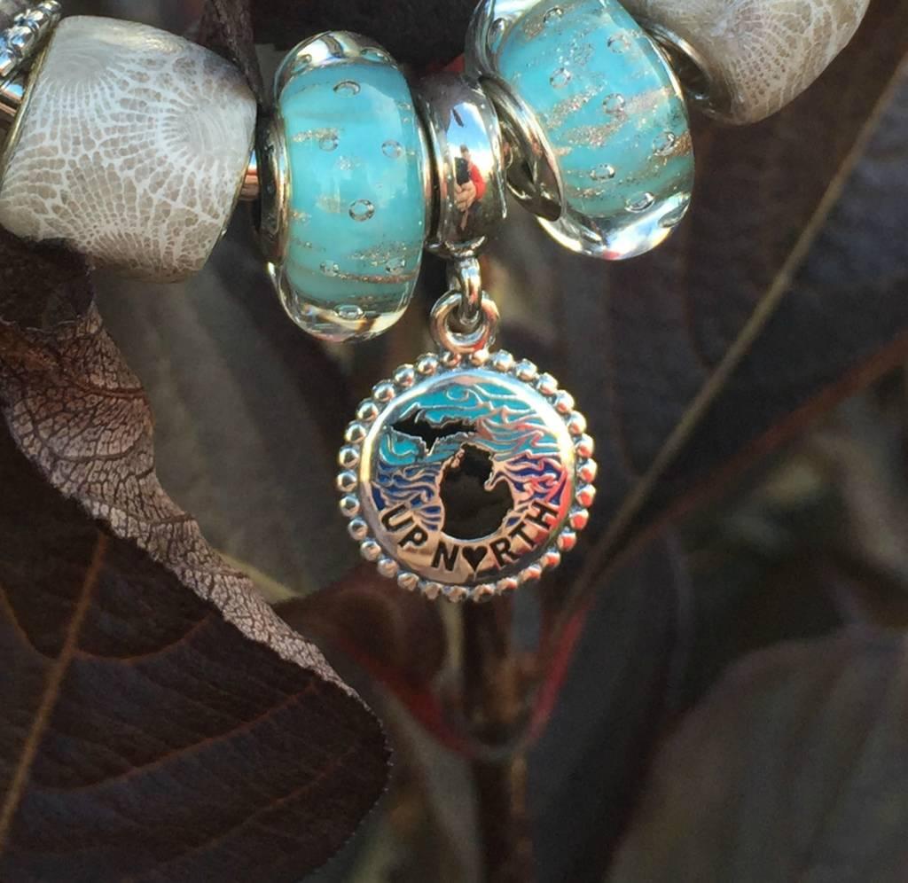 Pandora Pandora Jewelry Silver Michigan Charm, Up North