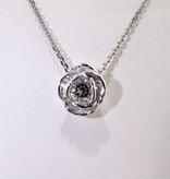 Signature Rose Silver White Topaz April Birthstone Necklace, Rose Slider