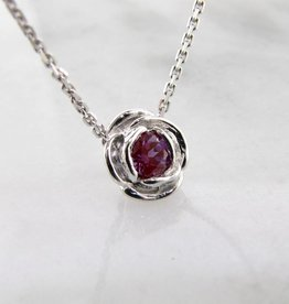 Signature Rose Silver Alexandrite June Birthstone Necklace, Rose Slider