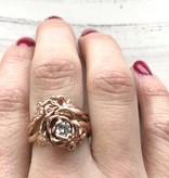 Signature Rose Rose Gold Diamond Wedding Ring Set, English Roses