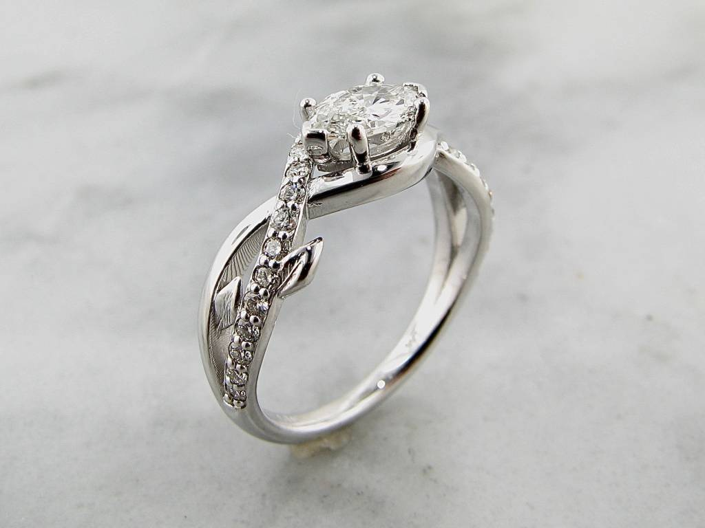 trending bridal white gold marquise diamond wedding ring - Marquise Diamond Wedding Ring