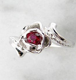 Signature Rose Burmese Ruby White Gold Ring, Loveu0027s Long Lost Rose