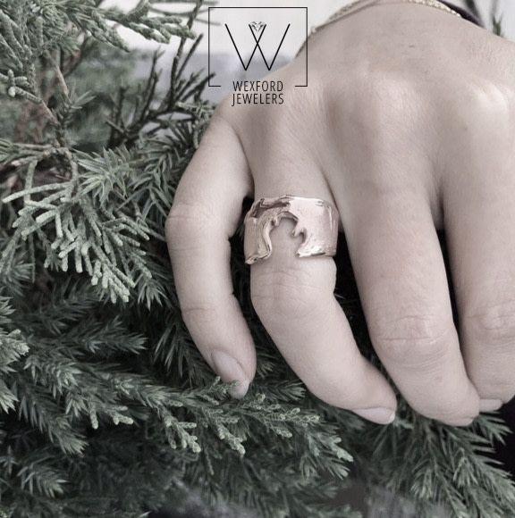 Organic Michigan Silver Ring