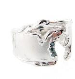 Organic Blue Diamond Silver Ring, Pure Michigan
