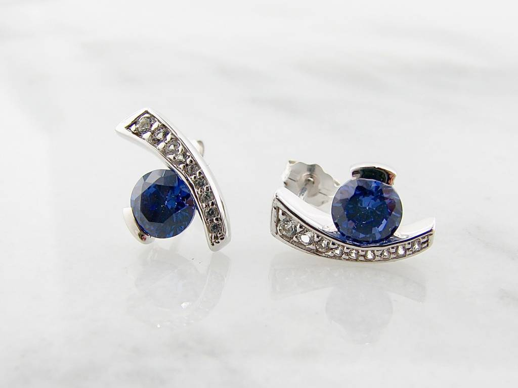 let gemstone sets custom studs sapphire blue the pairing you a necklaces jewelry cut purchased simple for s while example deep earrings is say of elegant pair with earring round stud and