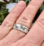 Organic Silver Ring, Ponderosa Pine Band