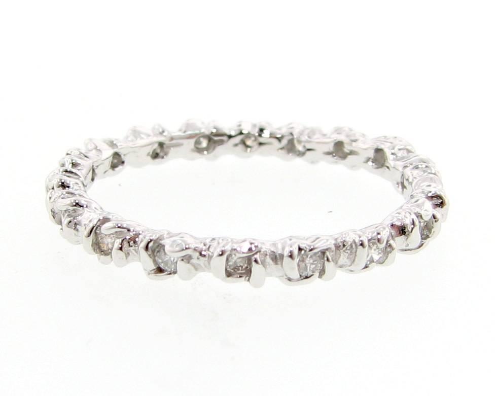 Signature Rose White Gold Diamond Ring, Rosebud Leaf Band