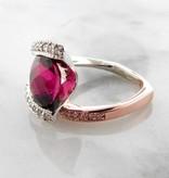 Frank Reubel Rubellite Tourmaline Diamond Rose White gold Ring,  Beyond Beautiful