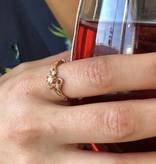 Signature Rose Opal Diamond Rose Gold Ring, Rose Garden