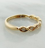 Vintage Yellow Gold Milgrain Diamond Ring, Lady Meux