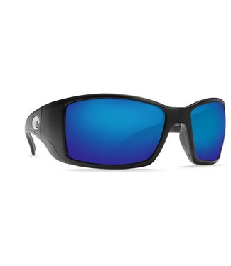 Costa Del Mar Blackfin Matte Black Blue Mirror 580G Sunglasses
