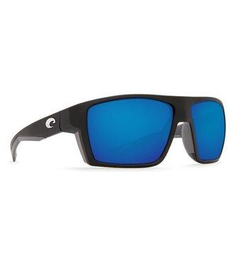 Costa Del Mar Bloke Matte Black 580G Blue Mirror Sunglasses