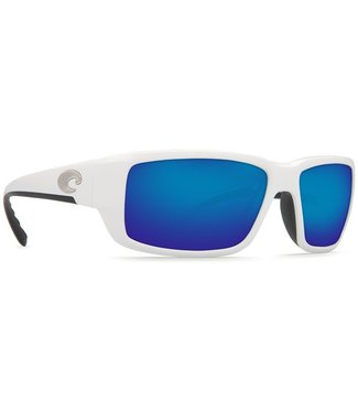 Costa Del Mar Fantail White 400G Blue Mirror Lens Sunglasses