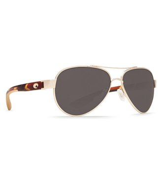 Costa Del Mar Loreto Rose Gold 580P Grey Lens Sunglasses