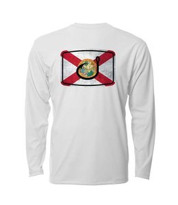 Avid Florida Flag White AVIDry Long Sleeve (50+ UPF)