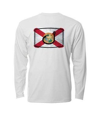 Avid Florida Flag White AVIDry Long Sleeve (50+ UPF)
