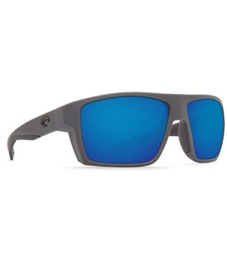Costa Del Mar Bloke Matte Gray Matte Black 580G Blue Mirror Sunglasses