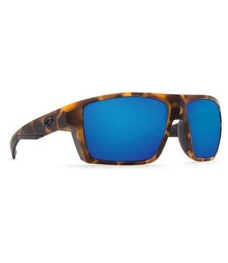 Costa Del Mar Bloke Matte Retro Tort 580G Blue Mirror Lens Sunglasses