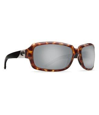 Costa Del Mar Isabela Retro Tort 580P Silver Mirror Lens Sunglasses