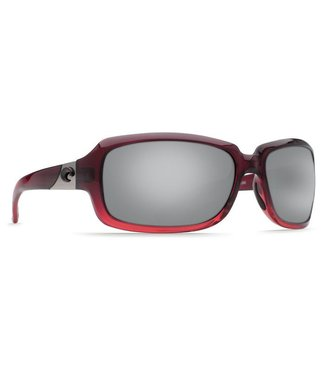 Costa Del Mar Isabela Pomegranate Fade 580P Silver Mirror Lens Sunglasses