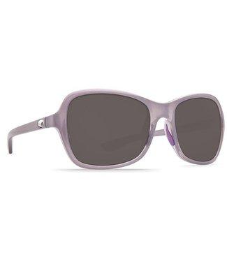 Costa Del Mar Kare Shiny Sea Lavendar 580P Crystal Grey Lens Sunglasses