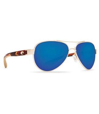 Costa Del Mar Loreto Rose Gold 580P Blue Mirror Sunglasses