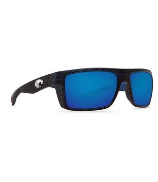 Costa Del Mar Motu Matte Black Teak 580G Blue Mirror Lens Sunglasses